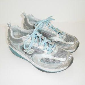 Skechers Shape Ups Blue & Silver Platform Sneaker